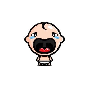 Иллюстрация плачущего детского персонажа