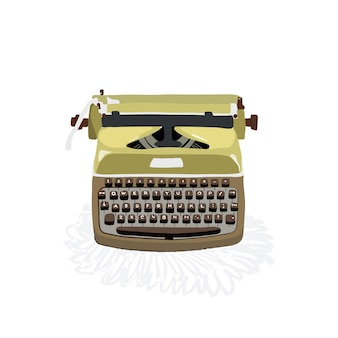 Illustration about old typewriter