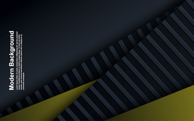 Illustration   of abstract background black and blue with yellow color