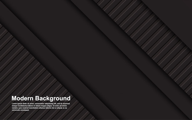 Illustration   of abstract background black and brown color Premium Vector
