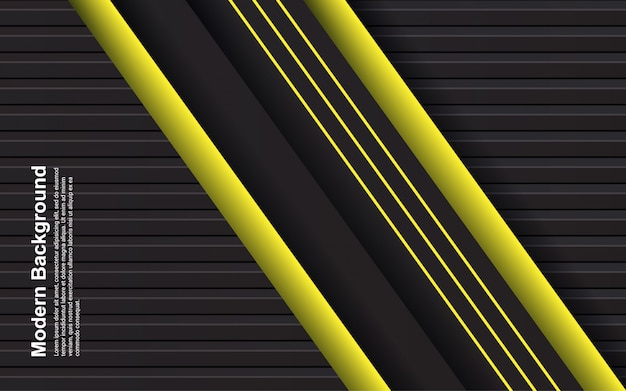 Illustration   of abstract background black and yellow color