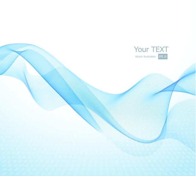 Illustration abstract background with blue wave
