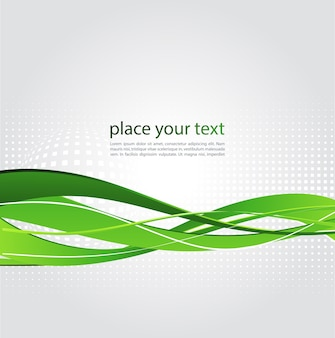 Illustration abstract background with green wave