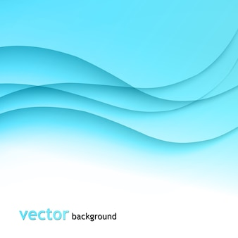 Illustration abstract colorful background with blue wave