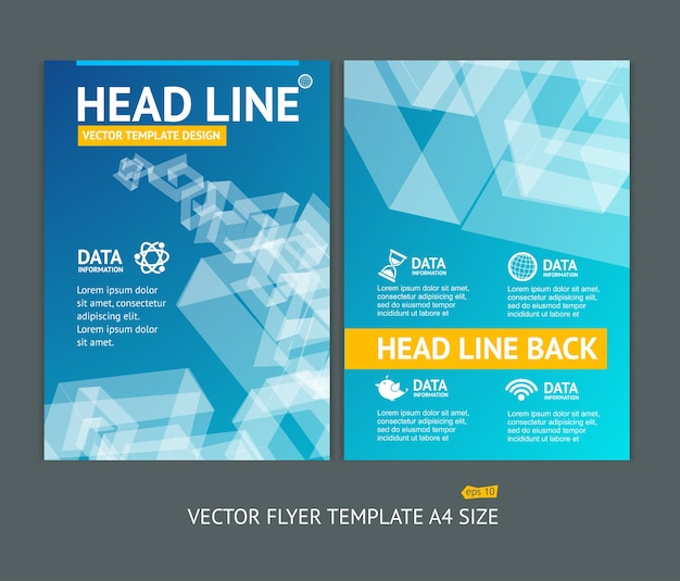 Illustration abstract geometric shape brochure flyer design templates