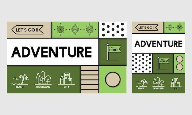 Illustration of adventure concept