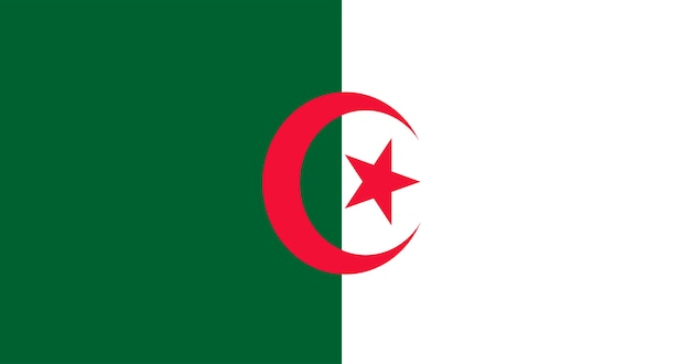 Illustration of algeria flag