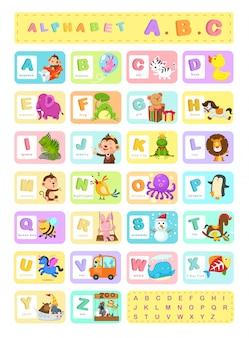 Illustration alphabet a-z vector