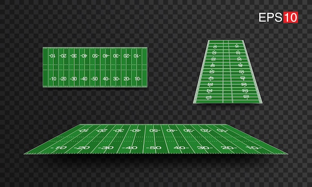Illustration american football fields