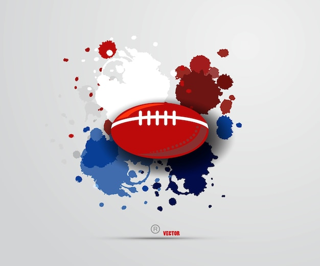 Illustration of american football game