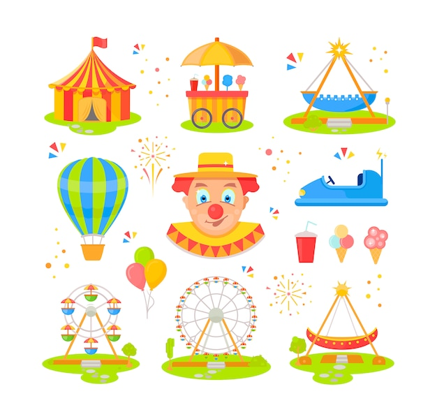 Illustration of amusement park