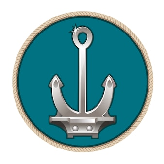 Illustration of the anchor on the blue background