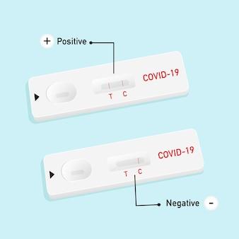 Иллюстрация наборы для тестирования антигенов atk для covid19