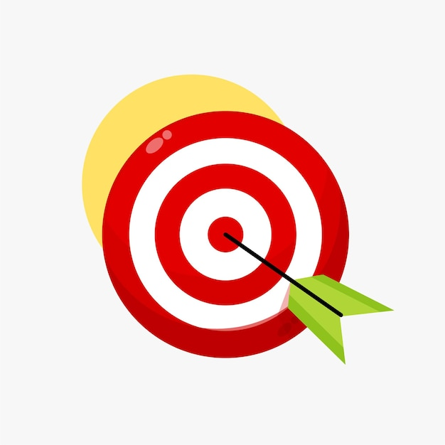 Illustration of an arrow hitting the target