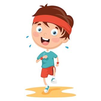 Illustration of athlete kid