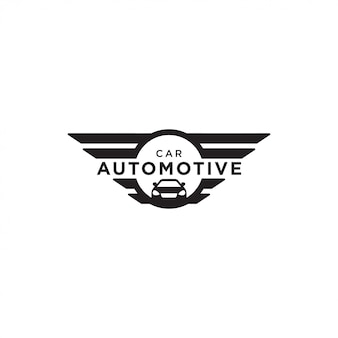 Illustration of automotive car logo design vector