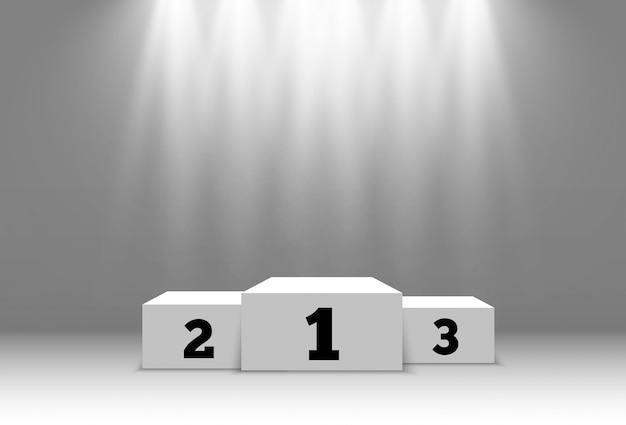 Illustration for award winners. pedestal or platform for honoring prize winners.
