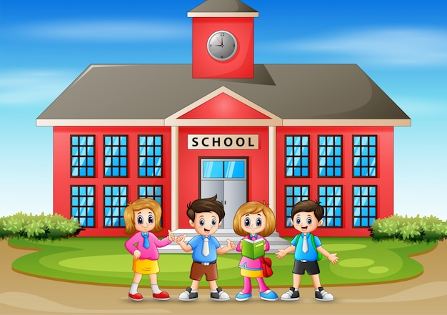 Illustration of back to school children