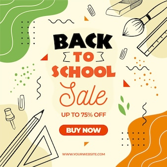 Illustration of back to school sales