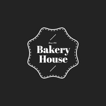 Illustration of bakery house stamp banner