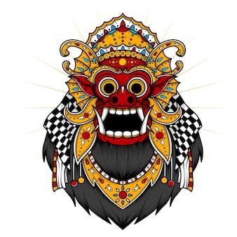 Иллюстрация балийский баронг на белом фоне