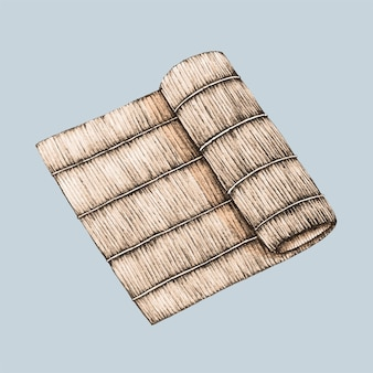 Illustration of bamboo plate