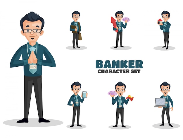 Illustration of banker character set