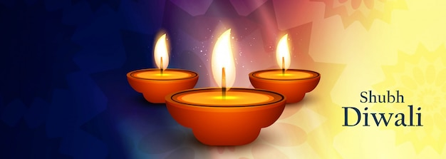 Illustration of banner for happy diwali festival