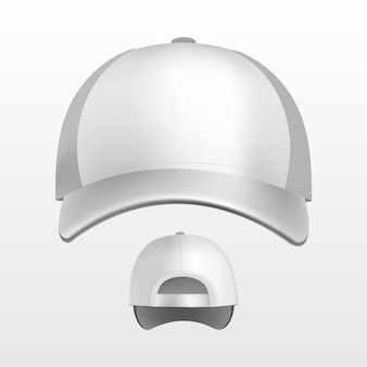 Illustration of baseball cap on white background
