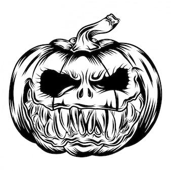 Illustration of big pumpkins and black eyes