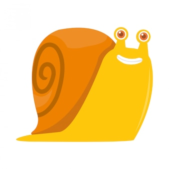 Illustration of big snail difficult to walk