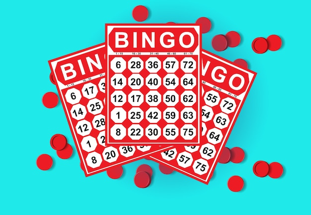 Illustration of bingo card game