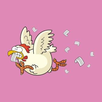 Иллюстрация птица летит с письмом к доставке клиента подписывает дизайн логотипа