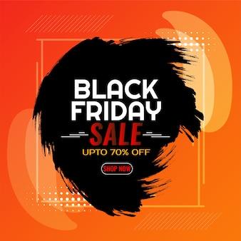 Illustration of black friday sale brush stroke background