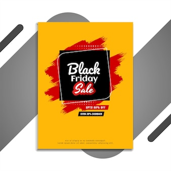 Illustration of black friday sale flyer yellow  vector