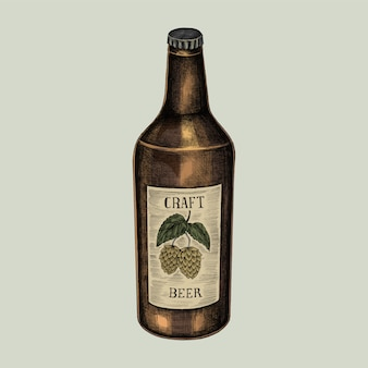 Illustration of a bottle of craft beer