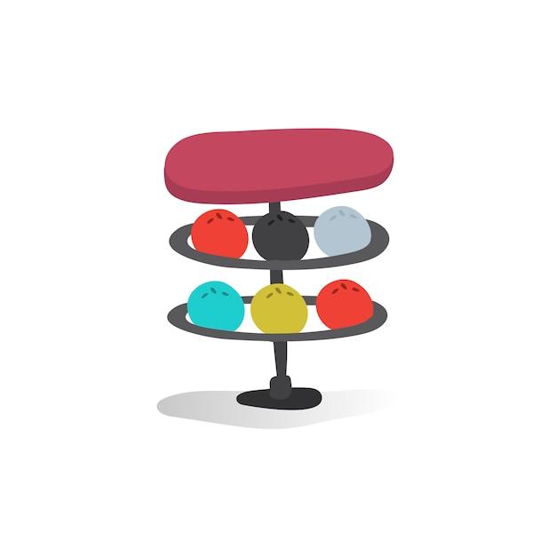 Illustration of bowling balls