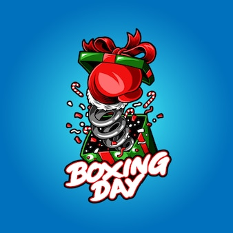 Illustration of boxing day vector