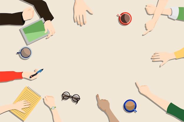 Illustration of brainstorming teamwork