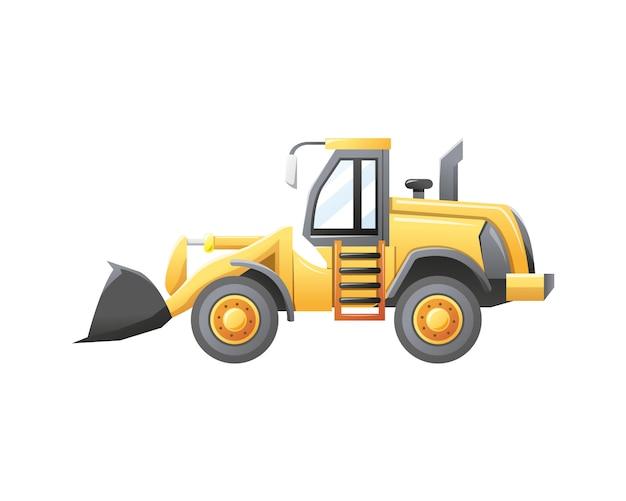 Illustration bulldozer construction vehicle