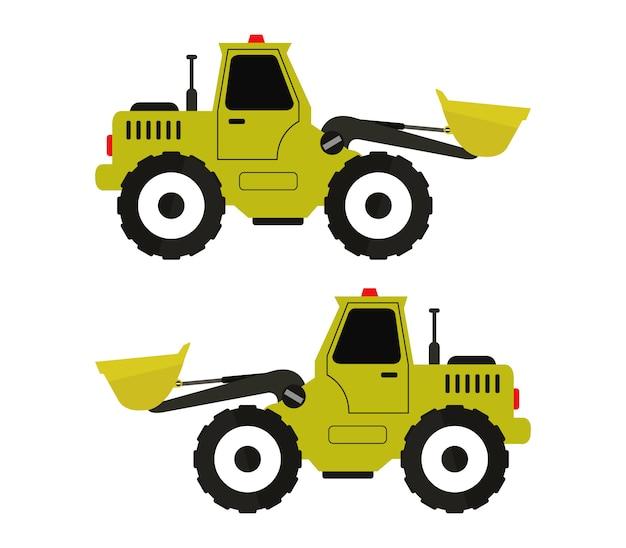 Illustration of bulldozers