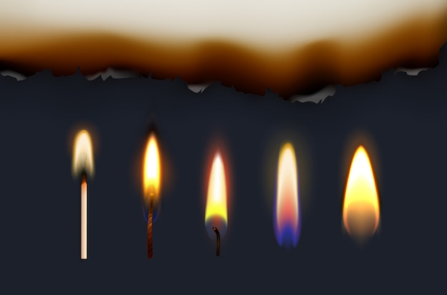 Illustration of burning matches