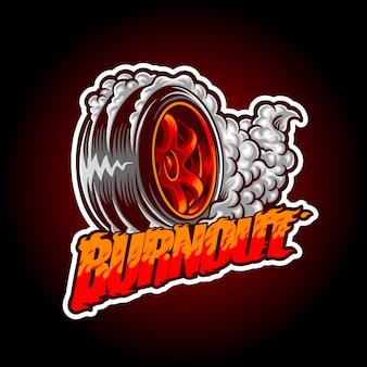 Illustration of burnout wheel