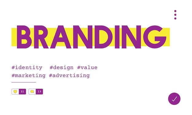 Illustration of business branding