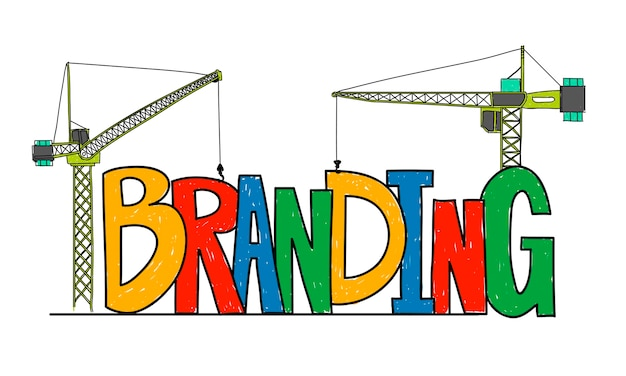 Illustration of business branding