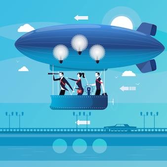 Illustration of business people having new ideas