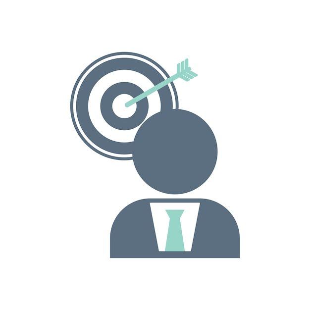 Illustration of business target icon