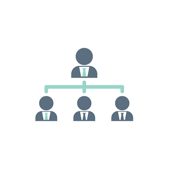 Illustration of business team structure