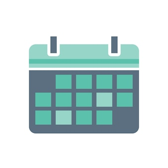 Illustration of calendar icon Free Vector
