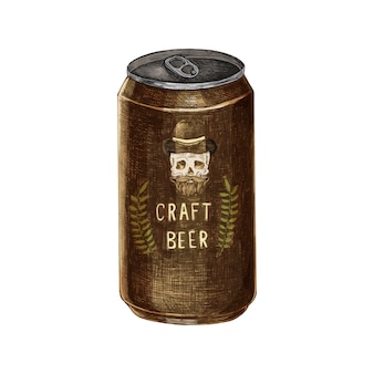 Illustration of a can of craft beer